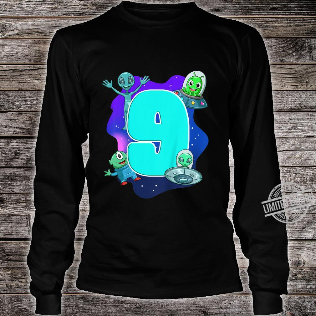 Youth Children's Birthday Alien And Ufo Shirt long sleeved