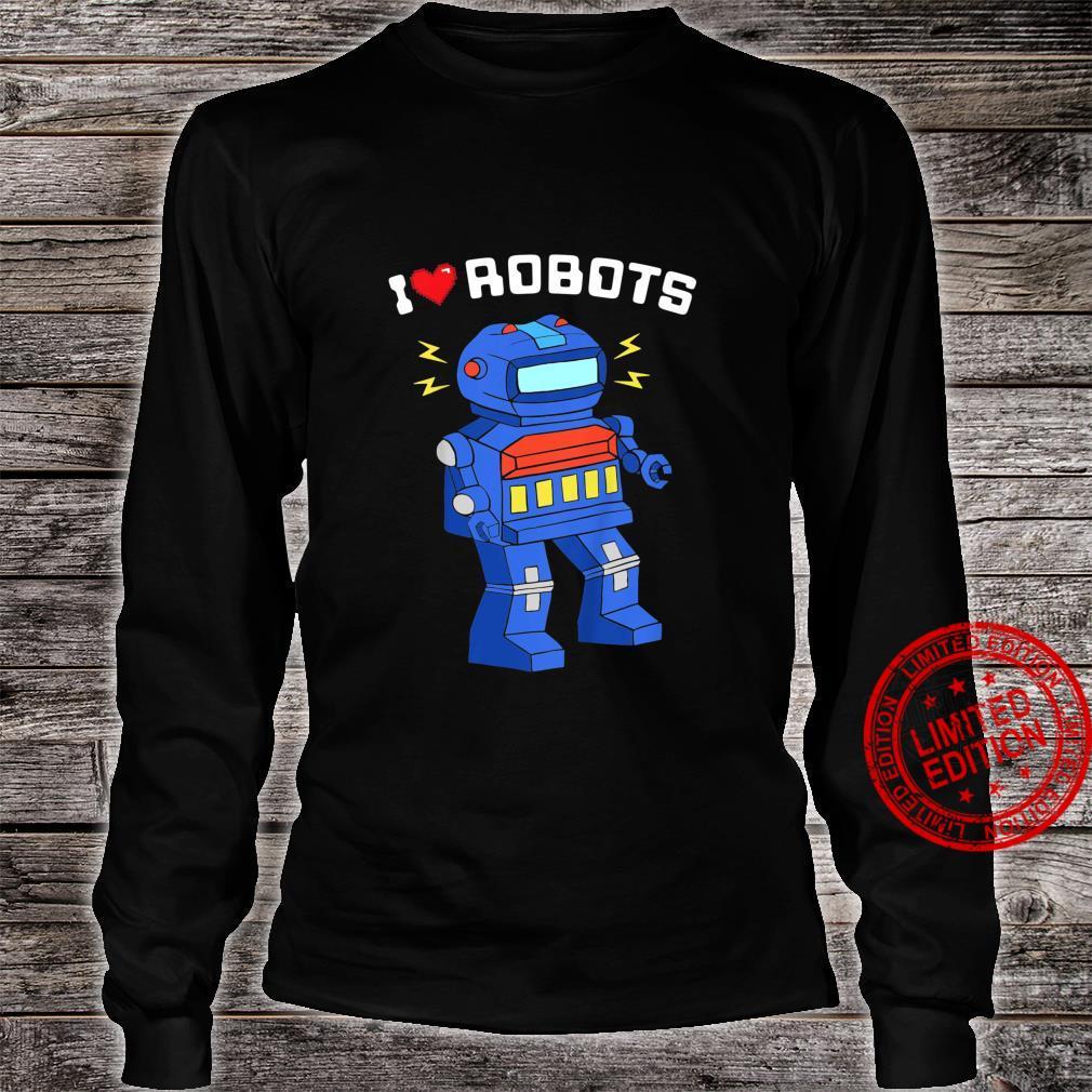 Youth I Love Robots Cool Robot Shirt long sleeved