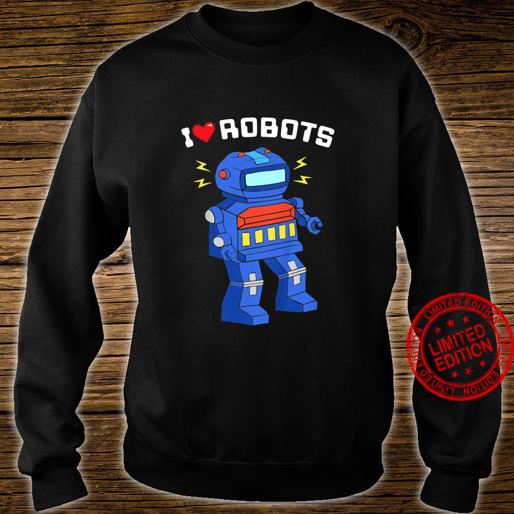 Youth I Love Robots Cool Robot Shirt sweater